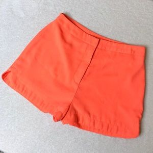 Lush Flowy Bright Orange High-Rise Shorts Medium